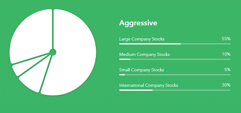 Carpetas de inversiones agresiva